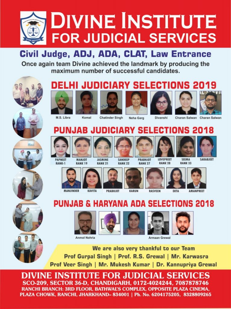 selection-2018-and-2019-divine-judiciary-coaching-in chandigarh